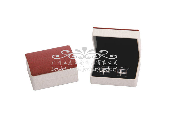 Imitation leather + Plastic Cufflinks Boxes  Khaki Dressed Cufflinks Boxes Cufflinks Boxes Wholesale & Customized  CL210518
