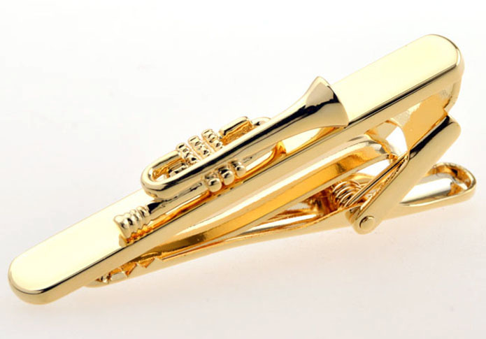 Orchestral Instruments Tie Clips  Gold Luxury Tie Clips Metal Tie Clips Music Wholesale & Customized  CL850857