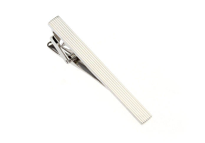 Silver Texture Tie Clips Metal Tie Clips Wholesale & Customized  CL870739