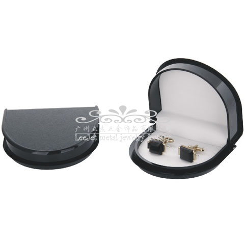 Imitation leather + Plastic Cufflinks Boxes  Black Classic Cufflinks Boxes Cufflinks Boxes Wholesale & Customized  CL210487