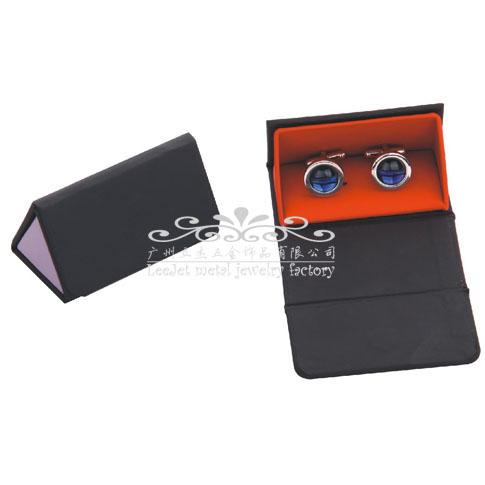 Imitation leather + Plastic Cufflinks Boxes  Black Classic Cufflinks Boxes Cufflinks Boxes Wholesale & Customized  CL210535