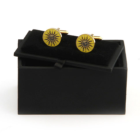 Imitation leather + Plastic Cufflinks Boxes  Black Classic Cufflinks Boxes Cufflinks Boxes Wholesale & Customized  CL210612