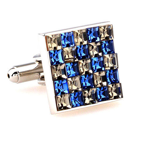 Multi Color Fashion Cufflinks Crystal Cufflinks Wholesale & Customized  CL664057