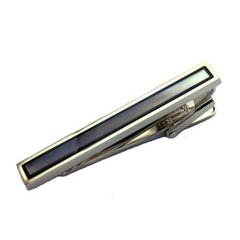 Black Classic Tie Clips Onyx Tie Clips Wholesale & Customized  CL850820