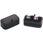 Imitation leather + Plastic Cufflinks Boxes  Black Classic Cufflinks Boxes Cufflinks Boxes Wholesale & Customized  CL210500