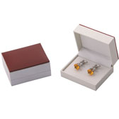 Imitation leather + Plastic Cufflinks Boxes  Khaki Dressed Cufflinks Boxes Cufflinks Boxes Wholesale & Customized  CL210506