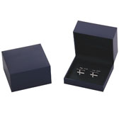 Imitation leather + Plastic Cufflinks Boxes  Blue Elegant Cufflinks Boxes Cufflinks Boxes Wholesale & Customized  CL210517