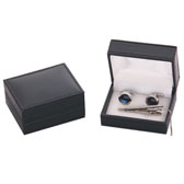 Imitation leather + Plastic Cufflinks Boxes  Black Classic Cufflinks Boxes Cufflinks Boxes Wholesale & Customized  CL210532