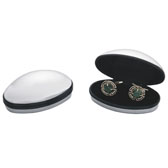 Matt Surface + Plastic Cufflinks Boxes  Black White Cufflinks Boxes Cufflinks Boxes Wholesale & Customized  CL210538