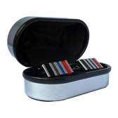 Bright Surface + Plastic Cufflinks Boxes  Silver Texture Cufflinks Boxes Cufflinks Boxes Wholesale & Customized  CL210548
