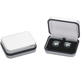 Bright Surface + Plastic Cufflinks Boxes  Silver Texture Cufflinks Boxes Cufflinks Boxes Wholesale & Customized  CL210549