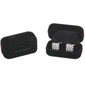 Qualitative Flannelette + Plastic Cufflinks Boxes  Black Classic Cufflinks Boxes Cufflinks Boxes Wholesale & Customized  CL210554