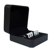 Leather + Plastic Cufflinks Boxes  Black Classic Cufflinks Boxes Cufflinks Boxes Wholesale & Customized  CL210640
