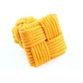 Yellow Lively Cufflinks Silk Cufflinks Knot Wholesale & Customized  CL640802