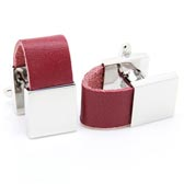 Leather belt Cufflinks  Red Festive Cufflinks Silk Cufflinks Wholesale & Customized  CL653135