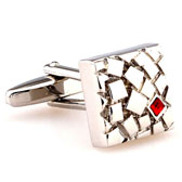 Red Festive Cufflinks Crystal Cufflinks Wholesale & Customized  CL664058