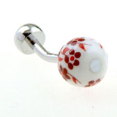 Red Festive Cufflinks Gem Cufflinks Wholesale & Customized  CL656248