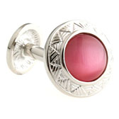 Pink Charm Cufflinks Gem Cufflinks Wholesale & Customized  CL660340